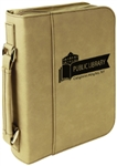 "7 1/2"" x 10 3/4"" Light Brown Leatherette Bible Cover"