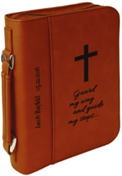 "7 1/2"" x 10 3/4"" Rawhide Leatherette Bible Cover"