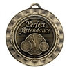 "2 5/16"" Spinner Medal, Perfect Attendance"