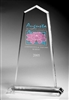 Tapered Obelisk Clear Acrylic Award 12""