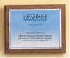 Solid American Walnut Photo Plaque 10 1/2 x 13