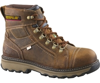 "CAT MEN'S GRANGER 6"" STEEL TOE WORK BOOT DARK BEIGE"