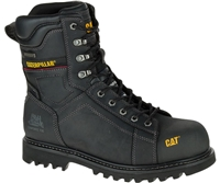 "CAT MEN'S CONTROL 8"" WATERPROOF COMPOSITE TOE WORK BOOT BLACK"