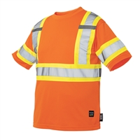 TOUGH DUCK SHORT SLEEVE SAFETY T-SHIRT WITH ARM BAND ORANGE