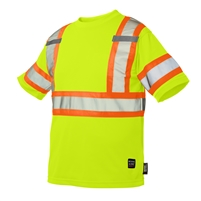 TOUGH DUCK SHORT SLEEVE SAFETY T-SHIRT WITH ARM BAND YELLOW