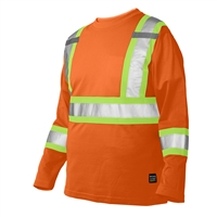 TOUGH DUCK LONG SLEEVE SHIRT WITH ARM BAND ORANGE