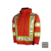 TOUGH DUCK LINED 5-IN-1 SAFETY JACKET ORANGE