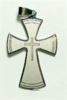 C06  STAINLESS STEEL CROSS PENDANT