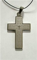 C10 STAINLESS STEEL CROSS PENDANT