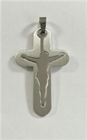 C14 STAINLESS STEEL CROSS PENDANT