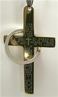 C21 STAINLESS STEEL CROSS PENDANT