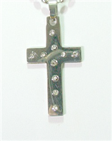 C25 STAINLESS STEEL CROSS PENDANT