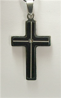 C27 STAINLESS STEEL CROSS PENDANT