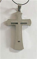 C29 STAINLESS STEEL CROSS PENDANT