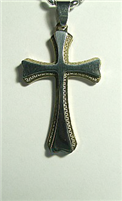 C32 STAINLESS STEEL CROSS PENDANT