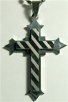 C33 STAINLESS STEEL CROSS PENDANT