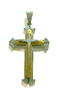 C34 STAINLESS STEEL CROSS PENDANT