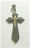 C44 STAINLESS STEEL CROSS PENDANT