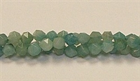 C69-06mm AMAZONITE #2 FACETED BEADS (DC)