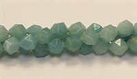 C69-08mm AMAZONITE #2 FACETED BEADS (DC)