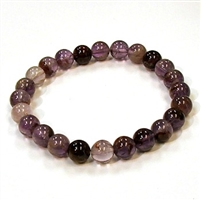 CRB143-8mm STONE BRACELET IN PURPLE RUTILE