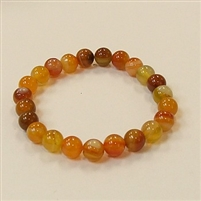 CRB181 STONE BRACELET IN ORANGE STRIPED AGATE