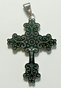 CPD27 STAINLESS STEEL CROSS PENDANT