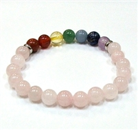 CR-56-7 8mm STONE BRACELET IN-ROSE QUARTZ
