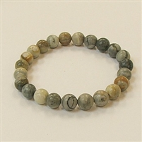 CR07 8mm STONE BRACELET IN PICASSO JASPER