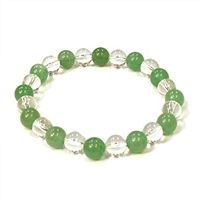 CR10-CR57-A-8mm TWO COLOR STONE BRACELET  IN AVENTURINE