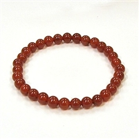 CR12-06mm STONE BRACELET IN RED AGATE
