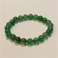 CR24 STONE BRACELET IN DYED GREEN AGATE