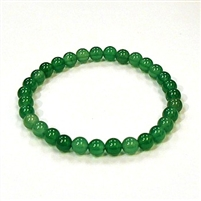 CR24-6mm STONE BRAELET IN DYED GREEN AGATE