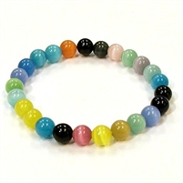 CR51-R 8mm ARTIFICIAL CAT'S EYE BRACELET