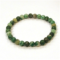 CR77-8mm STONE BRACELET IN QING HAI JADE