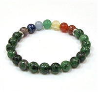 CRB-104-7 8mm 7 CHARKA BRACELETE IN RUBY ZOISITE