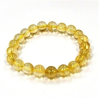 CRB115-8mm STONE BRACELET IN CITRINE