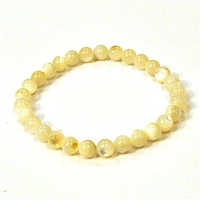 CRB123-6mm STONE BRACELET IN OYSTER