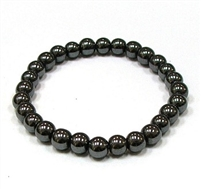 CRB152-8mm STONE BRACELET IN HEMATITE
