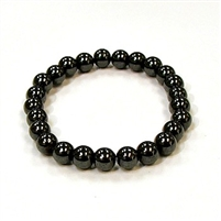 CRB152-B-8mm STONE BRACELET IN MAGNETIC HEMATITE