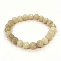 CRB163-8mm STONE BRACELET IN WHITE CRAZY AGATE