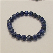 CRB178-8mm STONE BRACELET IN NATURAL LAPIS