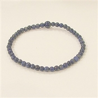 CRB178-4mm STONE BRACLET IN NATURALLAPIS