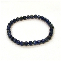 CRB178-6mm STONE BRACELET IN NATURAL LAPIS