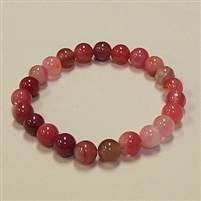 CRB179 STONE BRACELET IN RED LACE AGATE