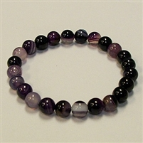 CRB180 STONE BRACELET IN PURPLE STRIPED