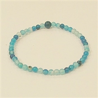 CRB182-4mm STONE BRACELET IN BLUE STRIPED AGATE