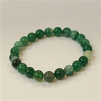 CRB183 STONE BRACELET IN GREEN GRASS AGATE