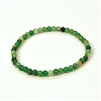 CRB183-4mm STONE BRACELET IN GREEN GRASS AGATE