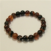 CRB187-STONE BRACELET IN FANTASY STRIPED AGATE
